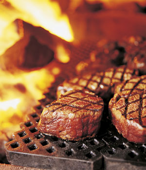 Buffalo Filets on the grill
