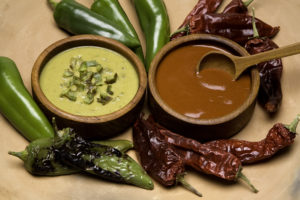 Green Chile Sauce and Red Chile Sauce